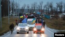 Автомайданівці знову біля «Межигір'я», фото 12 січня 2014 року