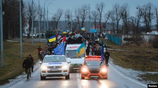 Під час візиту Автомайдану до «Межигір'я» 12 січня 2014 року