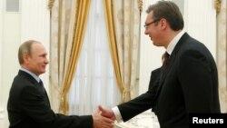Vladimir Putin i Aleksandar Vučić u Moskvi, maj 2016.