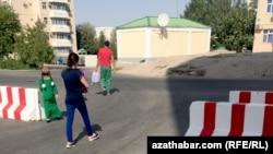 Микрорайоны Мир-1 и Мир-2 в центре Ашхабада.