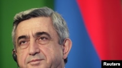 President Sarkisian has been accused of illegally trying to prolong his rule