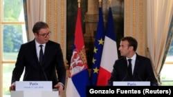 Aleksandar Vučić i Emanuel Makron