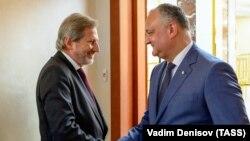 Comisarul european Johannes Hahn la întîlnirea cu președintele Igor Dodon la Chișinău, 19 iunie 2019