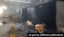 Месца выбуху на «Магілёўдрэве», 26 верасьня 2018