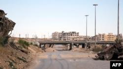 یکی از مسیرهای منتهی به شرق حلب.