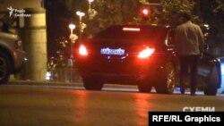 Mercedes, який рушив услід за Фаталовим і Мхітаряном, зареєстрований на жінку, яка є бенефіціаром компанії забудовника