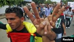 """Демонстрация палестинцев в Газе в поддержку примирения """"Фатха"""" и ХАМАСа"""