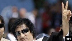 Либискиот лидер Гадафи