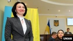 Голова Вищого антикорупційного суду Олена Танасевич після перших зборів суддів Вищого антикорупційного суду. Київ, 7 травня 2019 року