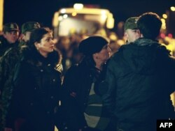 Германия мен Польша шекарасынан ұсталған шешен босқындары. 15 желтоқсан 2009 жыл. (Көрнекі сурет)