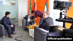 Рөстәм Миңнеханов Reutersның Дубайдагы бюросында