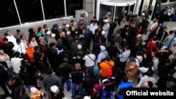 Крымские татары, отправившиеся в Мекку, для совершения обрядов хаджа