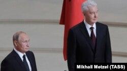 Президент РФ Владимир Путин и мэр Москвы Сергей Собянин во время церемонии инаугурации