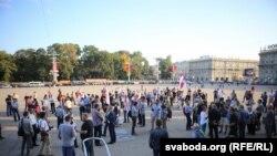 «Պահանջում ենք իրական ընտրություն» կարգախոսով ընդդիմության ակցիան Մինսկում:12-ը սեպտեմբերի, 2016