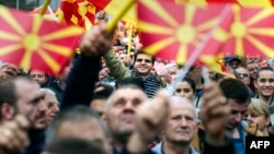 Thousands of Macedonians joined an opposition rally against the government on October 11.