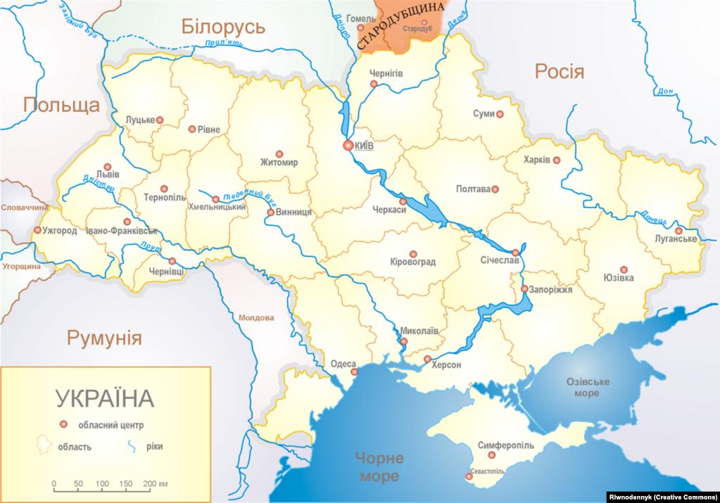Стародубщина на мапі сучасної Східної Європи
