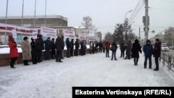 Митинг работников завода в Иркутске