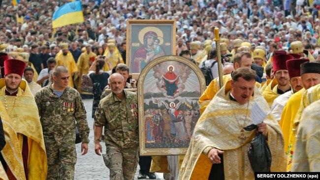 Хресна хода з нагоди відзначення Хрещення України-Русі. Київ, 28 липня 2017 року