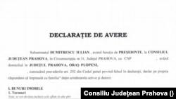Declarația de avere a lui Iulian Dumitrescu