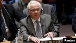 ՄԱԿ-ում Ռուսաստանի դեսպան Վիտալի Չուրկինը Անվտանգության խորհրդի նիստի ժամանակ, արխիվ