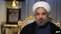 Iranian President Hassan Rohani during an interview in Tehran on September 10.