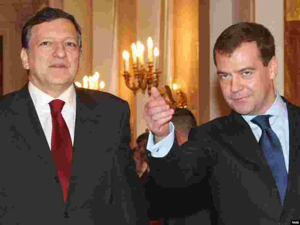 Встреча Дмитрия Медведева с президентом Еврокомиссии Жозе Мануэль Баррозу
