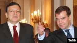 Barroso and Medvedev in Moscow