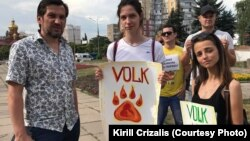 Учасники акції «Журналісти – не мішень» на підтримку В'ячеслава Волка. Кривий Ріг, липень 2018 року