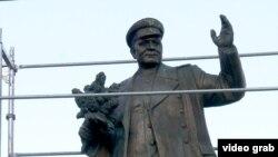 A monument to wartime Soviet commander Ivan Stepanovich Konev in Prague, Czech Republic.