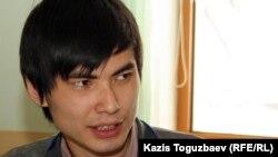 Әлеуметтік белсенді Ринат Кибраев. Алматы, 20 наурыз 2012 жыл.
