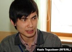 Ринат Кибраев, гражданский активист. Алматы, 20 марта 2012 года.