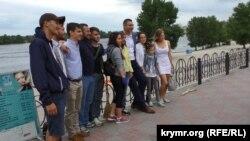 Vitaliy Kliçko Obolon yalısında, Kiyev iyün 26 künü