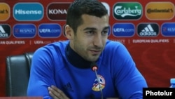 Armenian soccer star Henrikh Mkhitaryan, who plays for Arsenal (file photo)