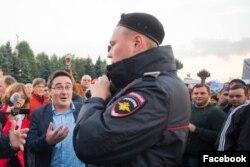 Раушан Валлиулин на антикоррупционном митинге