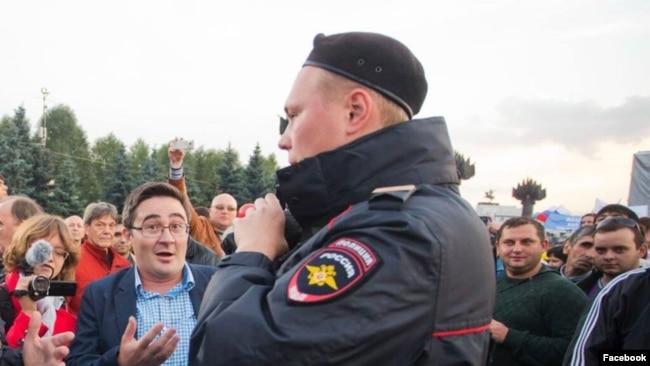 Раушан Валиуллин на митинге в поддержку Навального