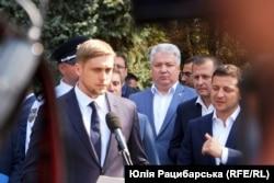 Олександр Бондаренко і Володимир Зеленський