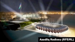 An artist's rendering of Baku's Crystal Hall, where the 2012 Eurovision Song Contest will be held.