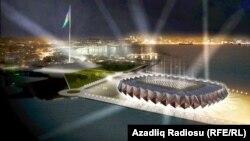 Eurovision 2012 üçün nəzərdə tutulan məkanın planı.