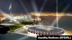 Компьютерная симуляция того, как будет выглядеть Crystal Hall в дни проведения Eurovision