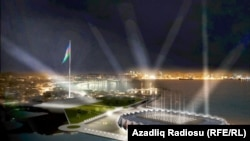 A simulation of the Baku Crystal Hall, where the 2012 Eurovision Song Contest will be held.