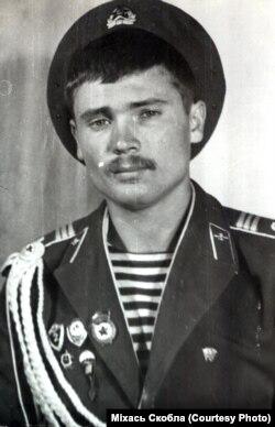 Міхась Скобла ў першы год дэсантнай службы