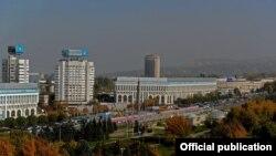 Вид города Алматы.