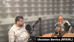 Богдан Яременко и Леонид Поляков в студии Донбасс Реалии