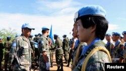 БУУнун Түштүк Судандагы бейпилдик миссиясынын курамындагы кытай аскерлери. 29-май, 2017-жыл.