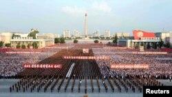 Հյուսիսային Կորեա - Զանգվածային հանրահավաք մայրաքաղաք Փհենյանում, արխիվ
