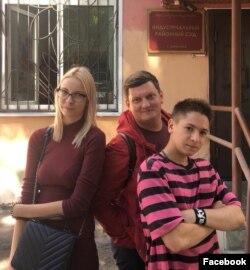 Адвокат Алексей Бушмаков, Мария Мутозная и Даниил Маркин