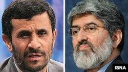علی مطهری (سمت چپ) و محمود احمدی نژاد.