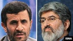 علی مطهری (راست) و محمود احمدی نژاد
