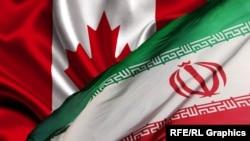 Иран менен Канаданын байрактары
