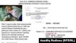 Balaca Təbrizə kömək lazımdır